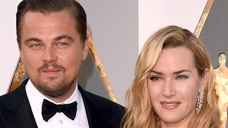 Leonardo DiCaprio and Kate Winslet at the Oscars