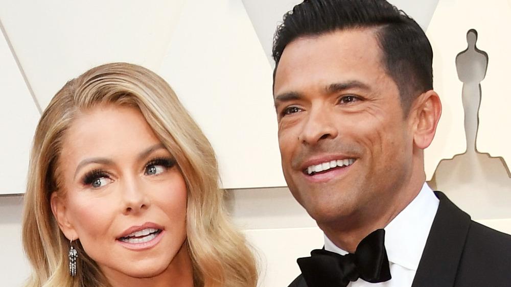 Kelly Ripa and Mark Consuelos close-up