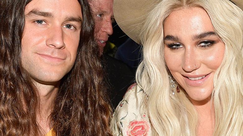 Brad Ashenfelter sits beside Kesha