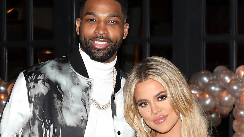 Khloe Kardashian and Tristan Thompson at an event