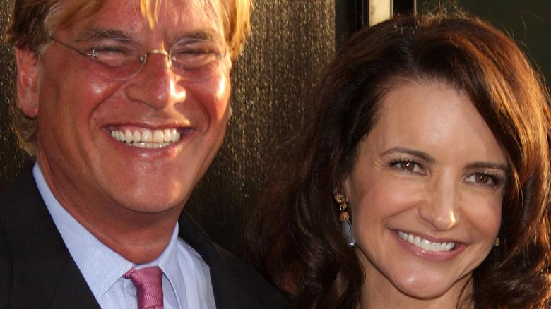 Kristin Davis and Aaron Sorkin at an event