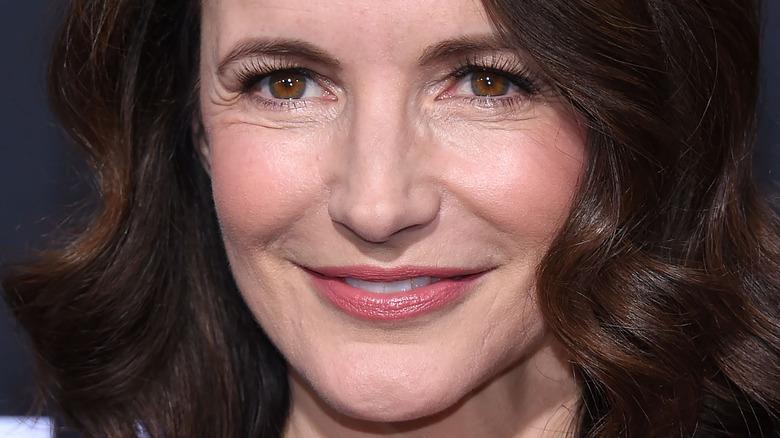 close up of Kristin Davis smiling