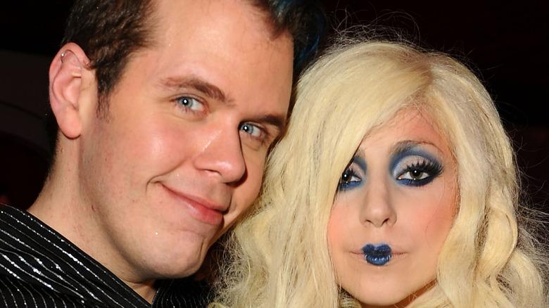Lady Gaga and Perez Hilton posing