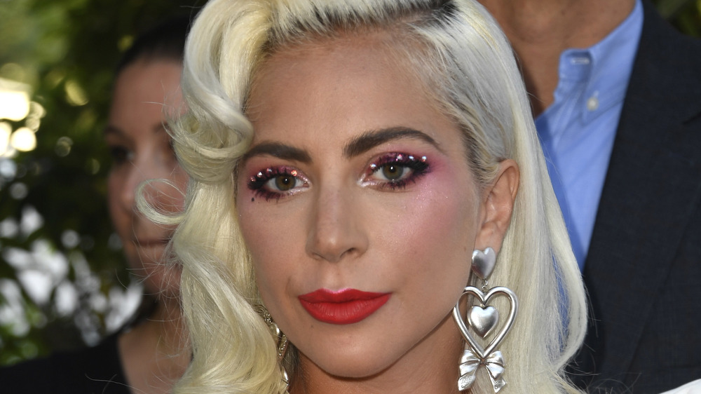 Closeup of Lady Gaga smiling