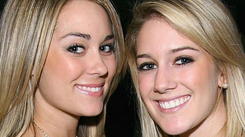 Lauren Conrad and Heidi Montag smile for the camera