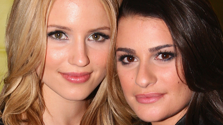 Lea Michele and Dianna Agron pose together