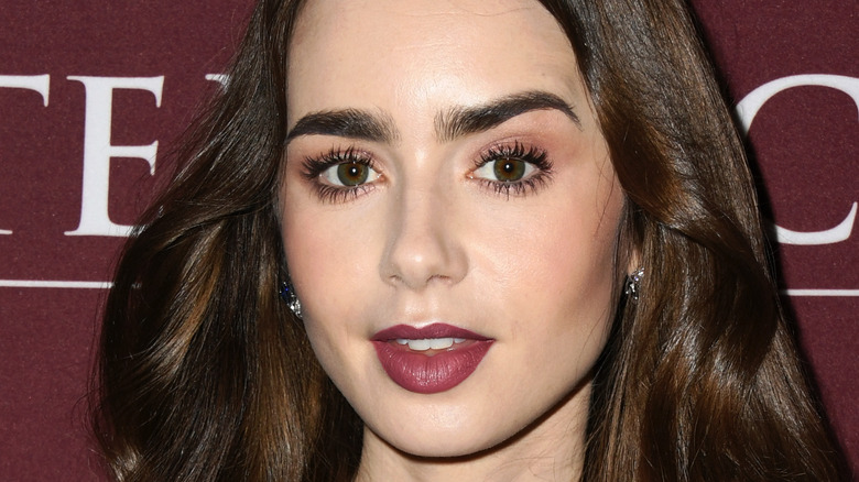 Lily Collins at an event
