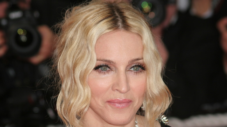 Madonna smiles at event