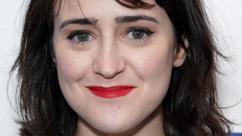 Mara Wilson smiling on the red carpet