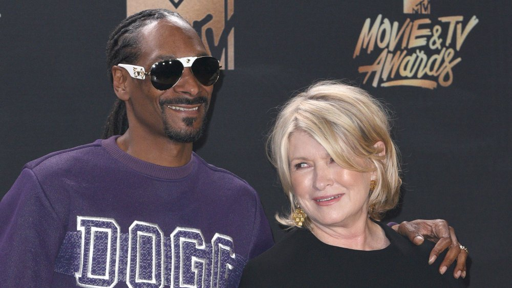 Snoop Dogg and Martha Stewart at an MTV event