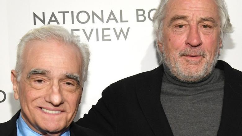 Martin Scorsese and Robert De Niro posing