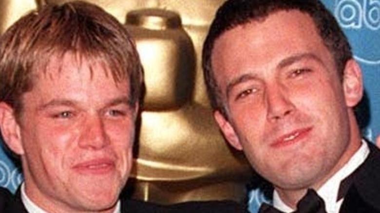 Matt Damon and Ben Affleck with Oscars