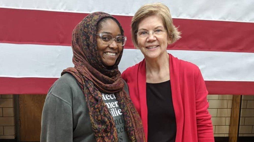 Mauree Turner and Elizabeth Warren