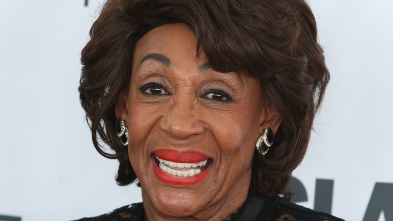 Maxine Waters posing at event