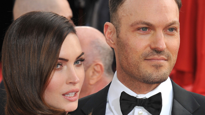 Megan Fox and Brian Austin Green on the red carpet.