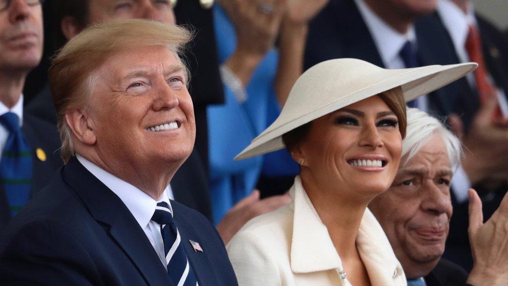 Donald Trump and Melania Trump together at an event