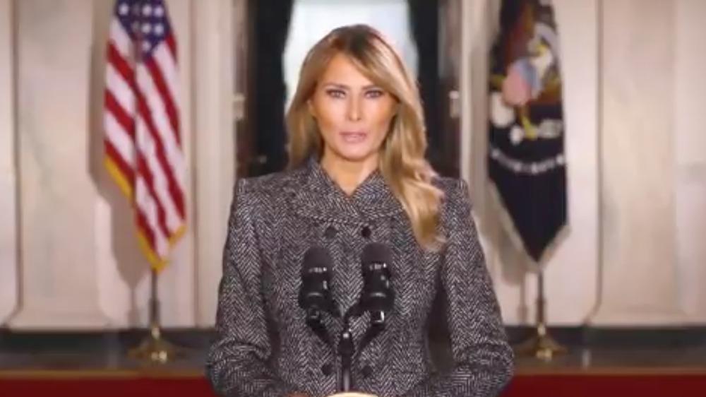 Melania Trump's pre-recorded farewell message