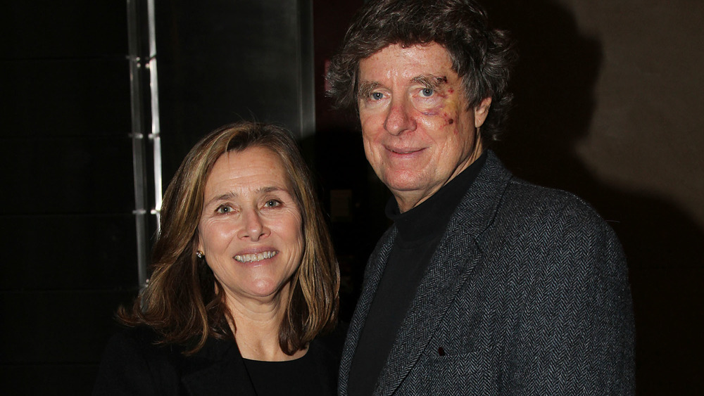 Meredith Vieira and Richard Cohen, smiling