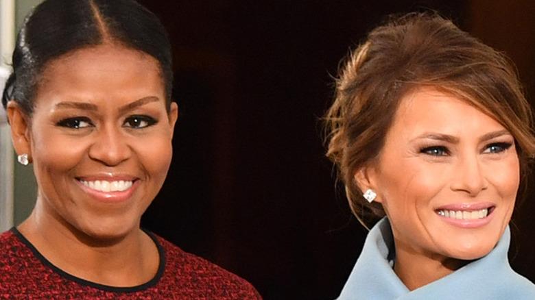 Michelle Obama and Melania Trump