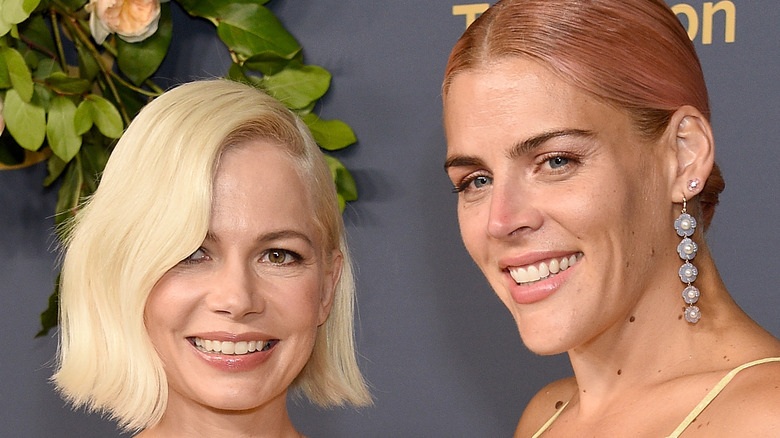 Michelle Williams and Busy Phillips attend the 2019 Emmys