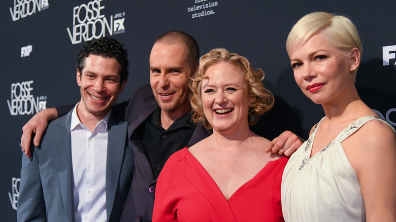 Thomas Kail, Michelle Williams, and fellow cast members