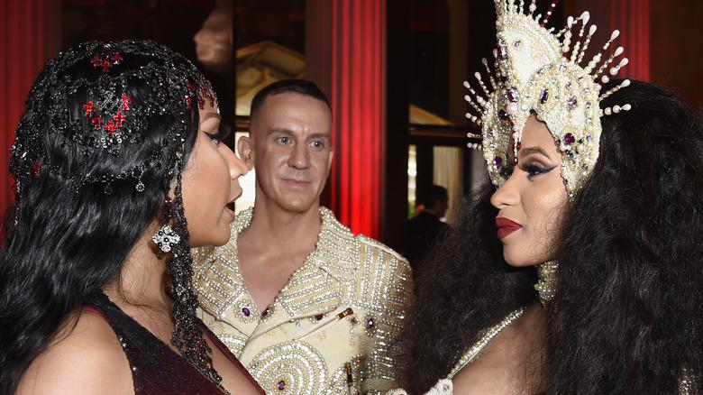 Cardi B and Nicki Minaj at the Met gala