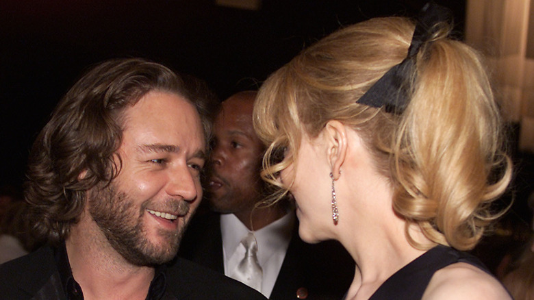Russell Crowe and Nicole Kidman laugh together