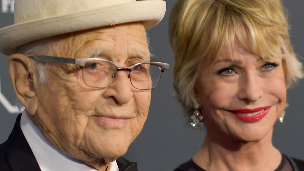 Norman Lear and wife Lyn Davis Lear on the red carpet