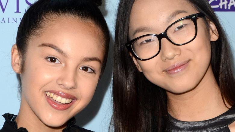 Olivia Rodrigo and Madison Hu smiling