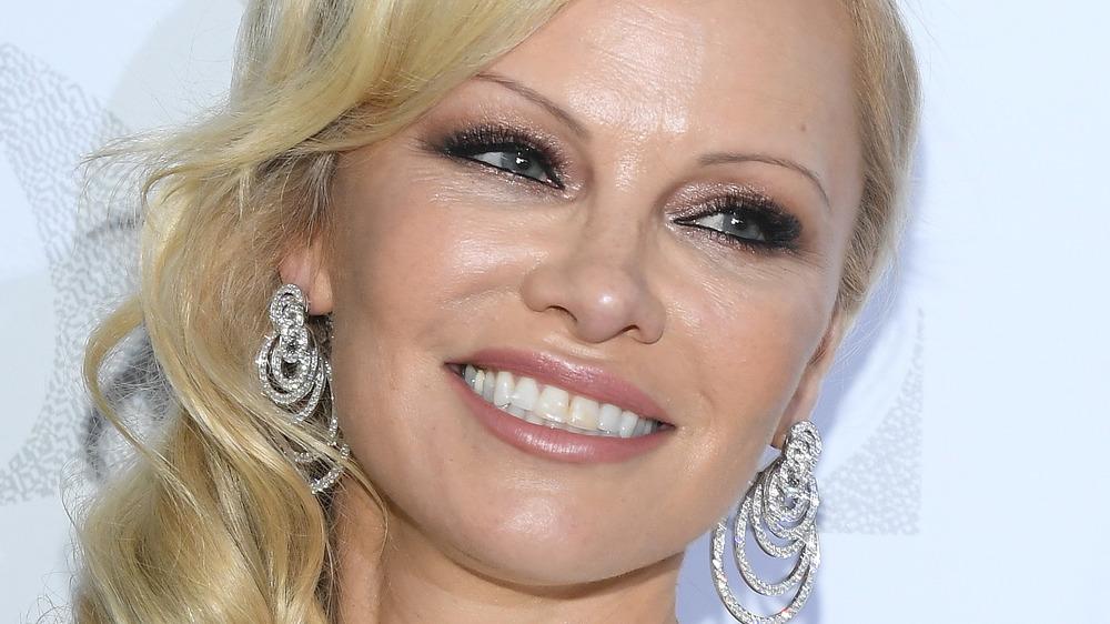 Pamela Anderson attends Paris Fashion Week