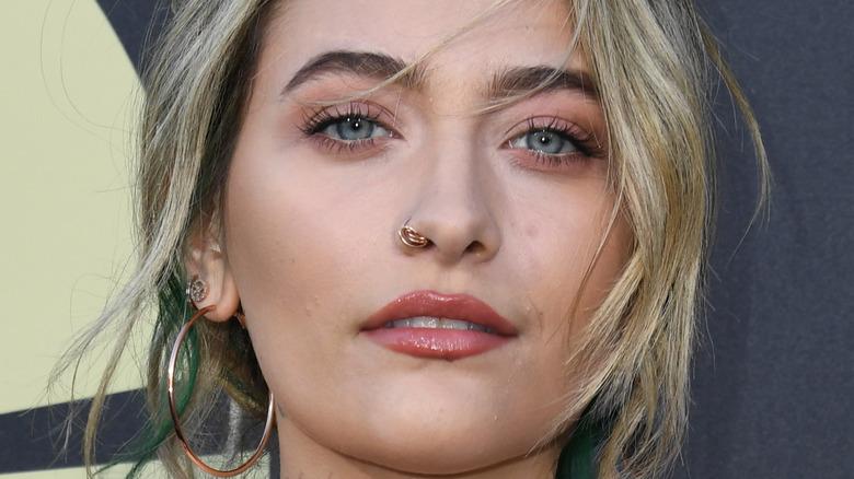 Paris Jackson face close-up