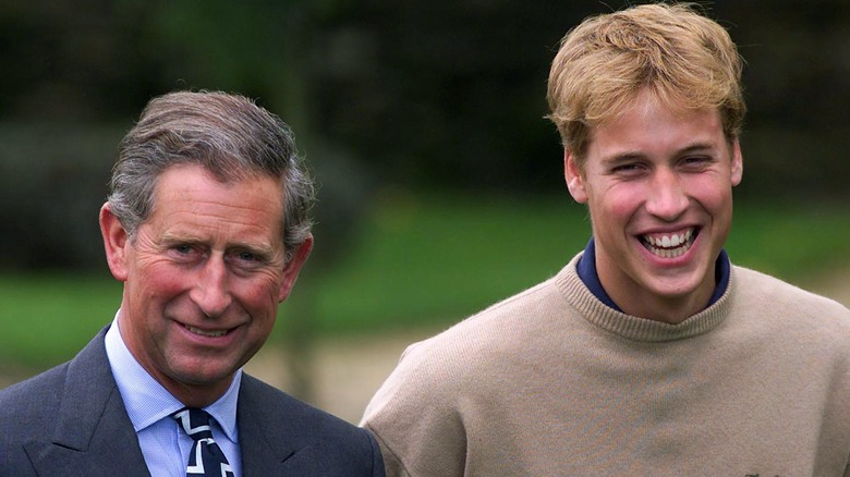 Prince Charles with Prince William, 2000