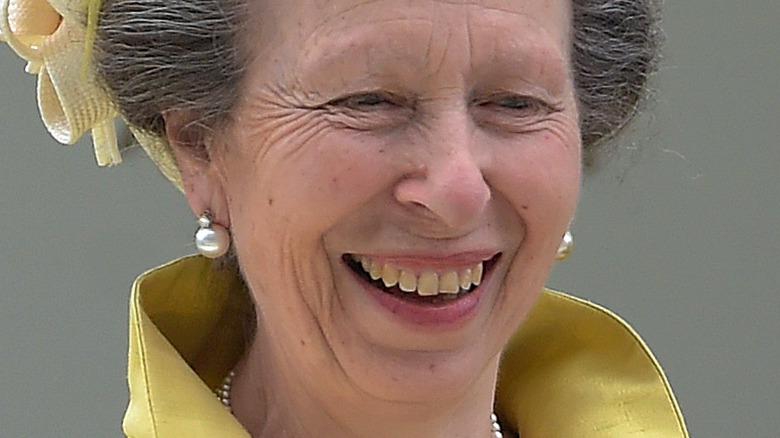 Princess Anne in bright yellow