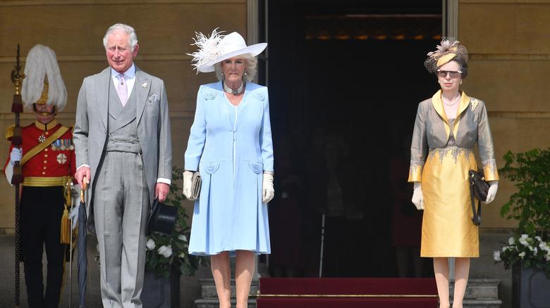 Royals Charles, Camilla, Anne