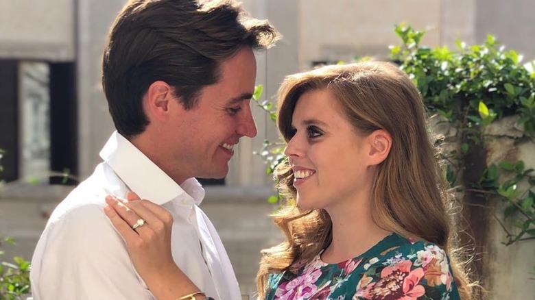 Princess Beatrice's fiance Edoardo Mapelli Mozzi with Princess Beatrice, March 2019