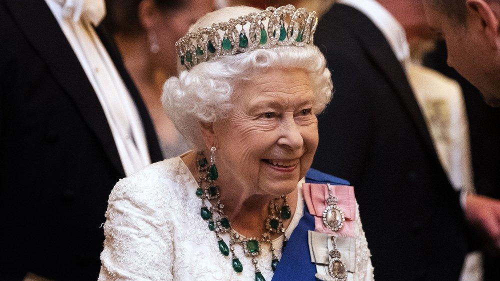 Queen Elizabeth wearing the Vladimir tiara