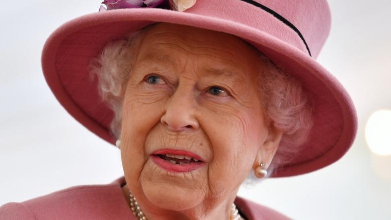 Queen Elizabeth speaking at event