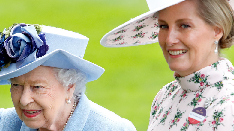 Queen Elizabeth II and Sophie, Countess of Wessex