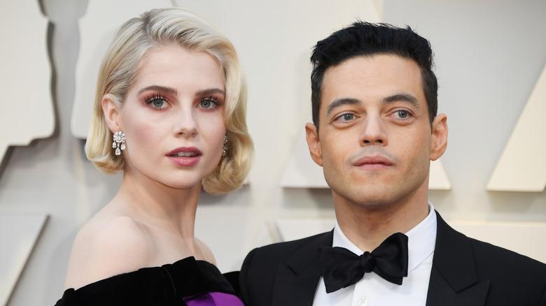 Lucy Boynton and Rami Malek at the Academy Awards
