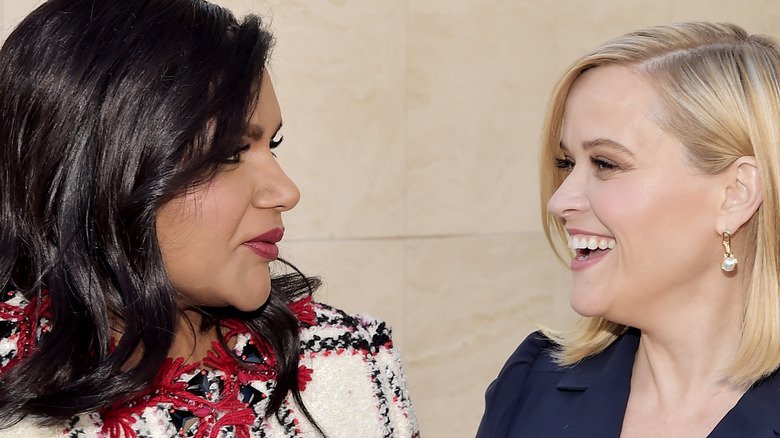 Reese Witherspoon and Mindy Kaling gaze lovingly at each other
