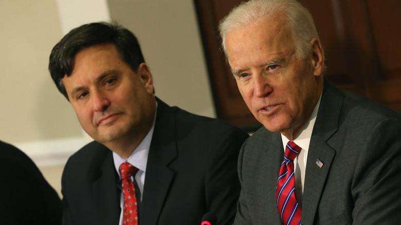 Ron Klain with Joe Biden