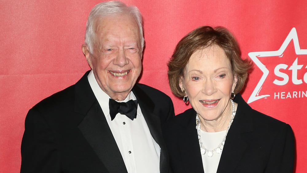 Jimmy Carter and Rosalynn Carter at an event together