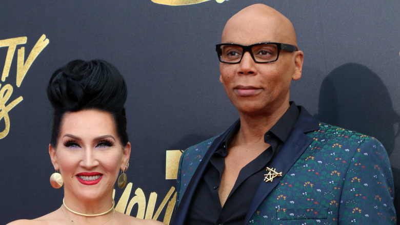 RuPaul and Michelle Visage pose on the red carpet together