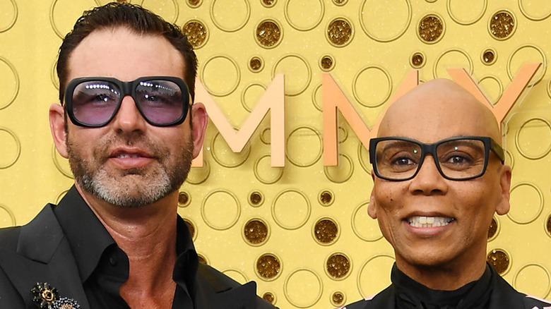 RuPaul poses with husband Georges LeBar
