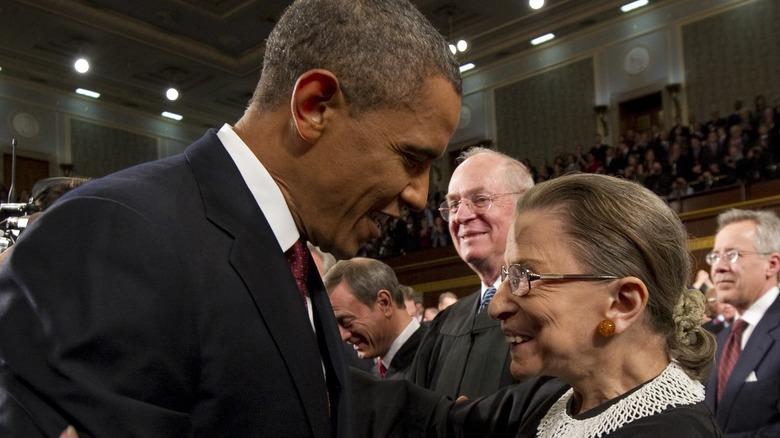 Barack Obama and Ruth Bader Ginsburg