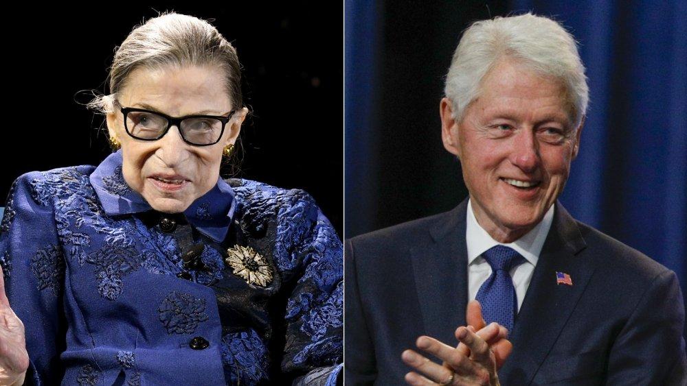 Bill Clinton and Ruth Bader Ginsberg