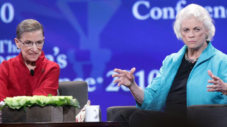 Ruth Bader Ginsburg and Sandra Day O'Connor