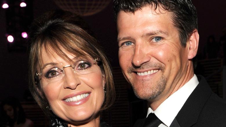 Sarah and Todd Palin at a fundraiser.