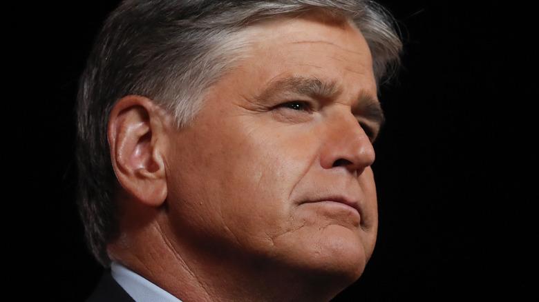 Sean Hannity posing, side profile