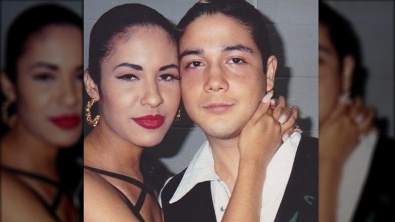 Selena Quintanilla and Chris Perez
